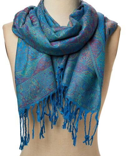 Women Pashmina Shawl Wrap Soft Acrylic Scarf Paisley Cashmere Scarves Stole