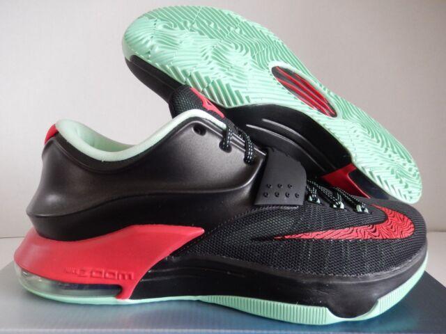 newest dd5eb a4815 Nike KD VII 7 Bad Apple Sz 9 Black Red MINT Green Basketball