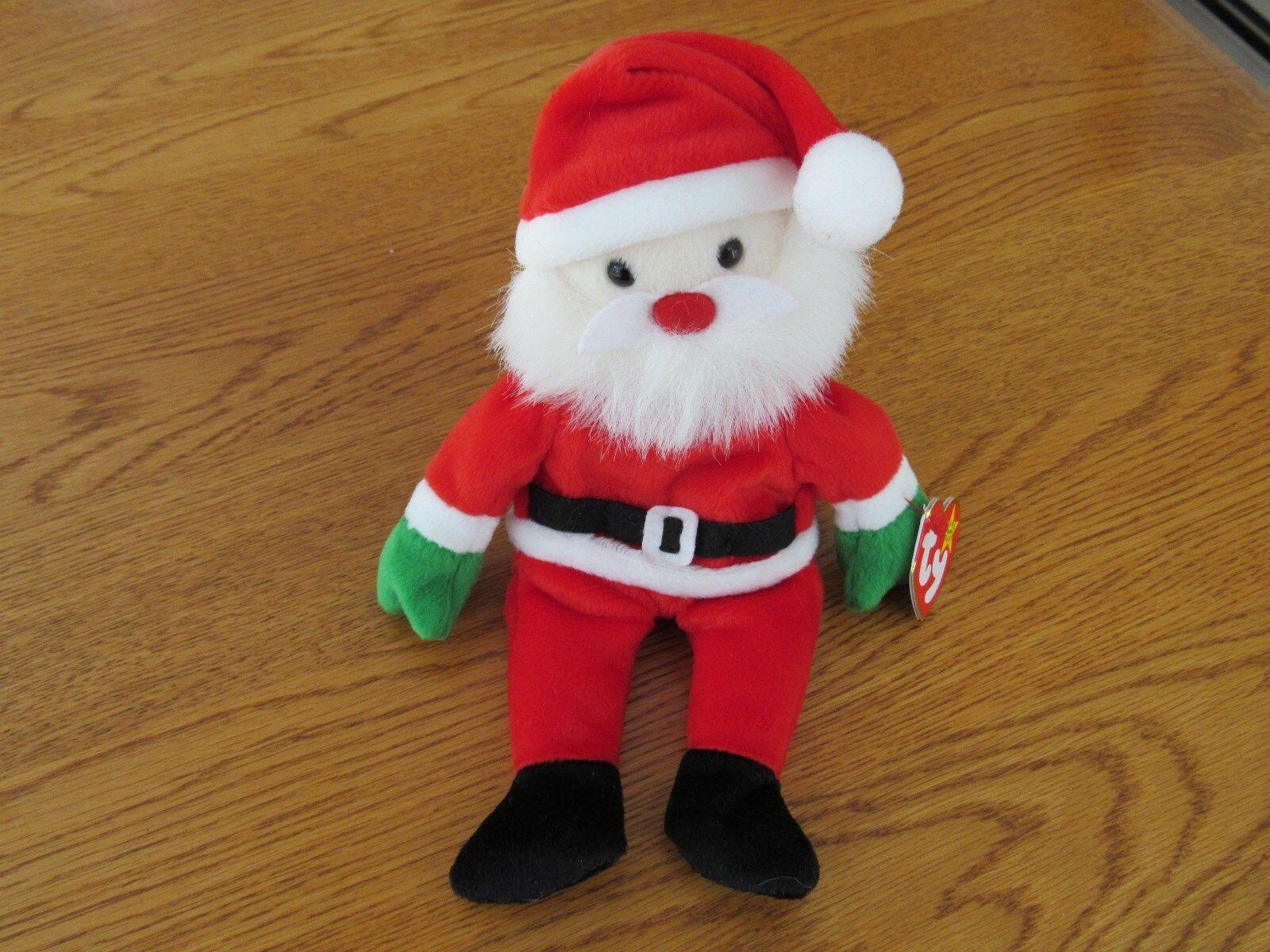 NEW TY Beanie Baby -  Santa  The Christmas Bear - 1998 - Retired