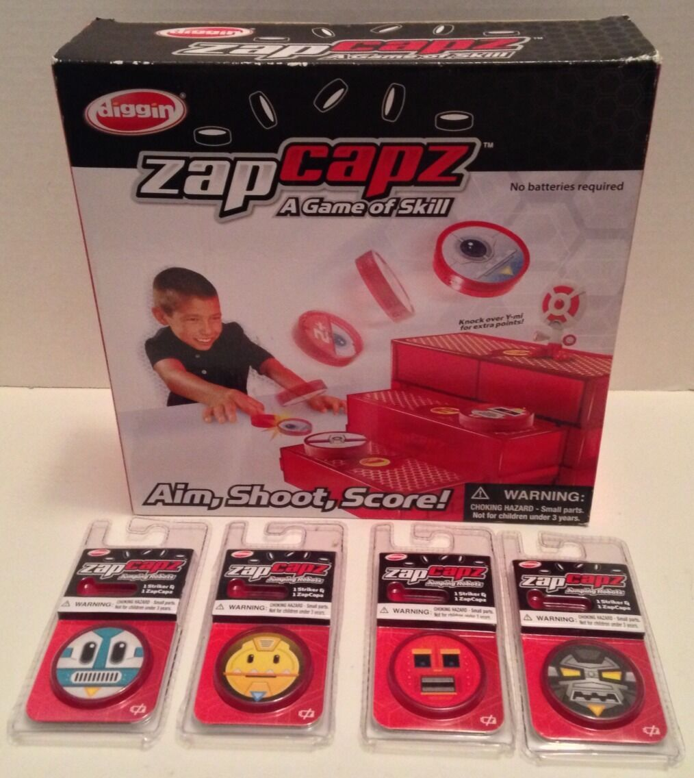 ** ZAP CAPZ ** RARE Table Top Skill Game Complete Set w/ Extra Caps