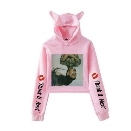 New Ariana Grande Women Hoodie Sweatshirt Pullover Casual Short Jacket Coat 001