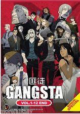 DVD Japan Anime Gangsta ( Vol. 1-12 End + Special ) English SUB + Free Shipping
