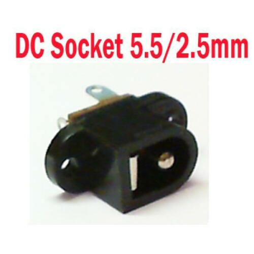 DC In-line Chassis Plug Socket 2.35 3.5 3.8 5.5 6.3 0.7 1.0 1.3 2.1 2.5 3.1mm