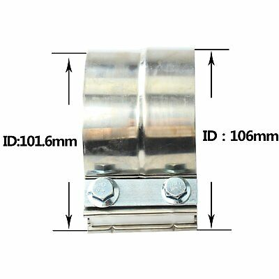 """4/"""" Stainless steel  Lap Joint Exhaust Band Clamp for Catback Manifolds T304"""