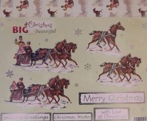 Line 624 Sleigh Ride Craft UK A4 Big /& Beautiful Die Cut Christmas Decoupage