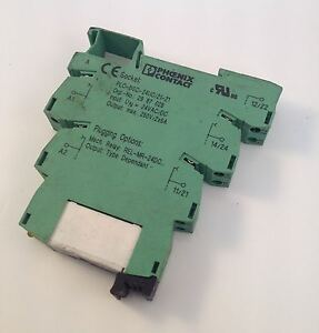 phoenix contact relay base socket lot of 2 plc bsc 24uc 21 21 99606 rh ebay com Circuit Board Cabinet Extruded Aluminum Enclosures