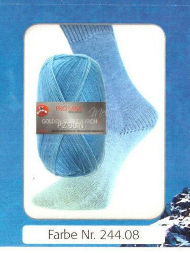 "100 talla pro lana strumpfwolle 4 veces /""piz buin/"" degradado con fondos de hilo"