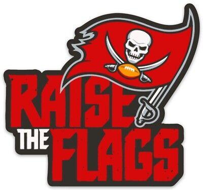 Tampa Bay Buccaneers Raise The Flags Logo Type Die Cut Magnet Ebay