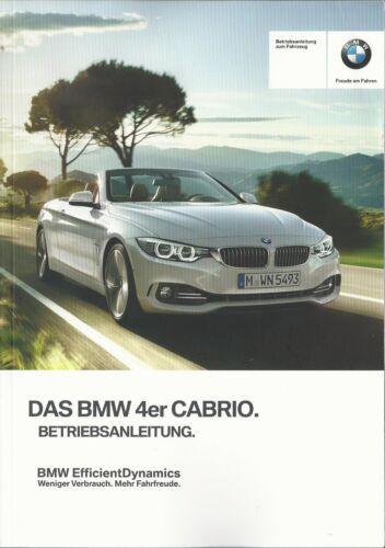 BMW 4er Cabrio f33 manuale di istruzioni 2014 MANUALE MANUALE BA