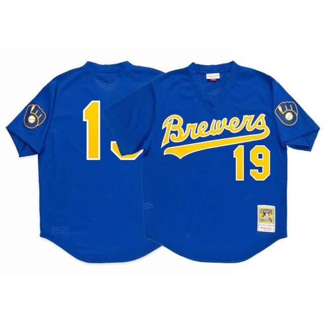 6554c2dd Robin Yount Milwaukee Brewers Mitchell & Ness Men's 1991 Authentic BP Jersey