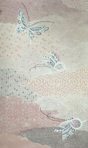 Vintage-Japanese-Silk-Kimono-Fabric-Panel-Quilting-Patchwork