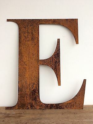 Large 40cm Letters EAT Rusty Rusted Metal Industrial Sign Decoration Ornament