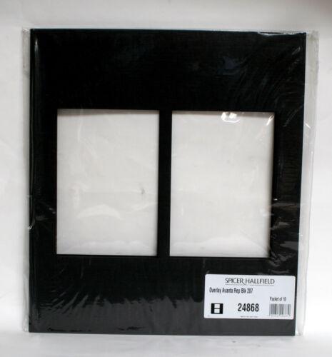 Spicer hallfield Avanta superposición Negro 207 Paquete De Diez