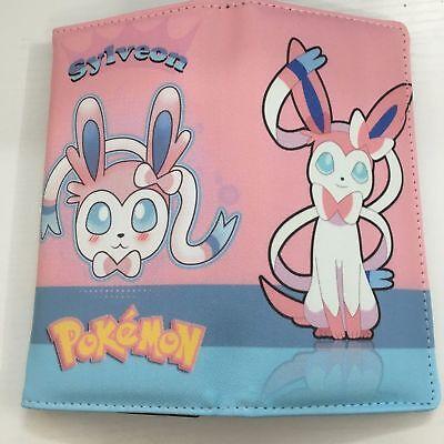 Pokemon Go Sylveon Long Wallet Zipper Coin Cards Money Purse Holder Handbag