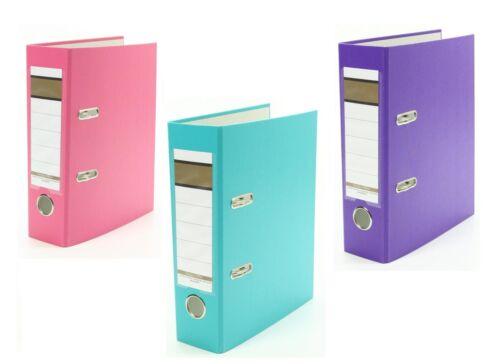 Farbe 75mm je 1x pink DIN A5 türkis und lila 3x Ordner