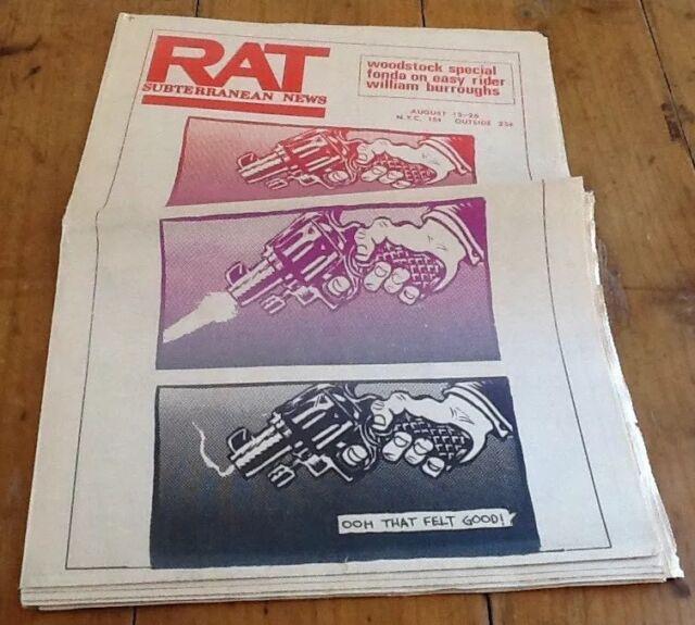 ULTRA RARE Rat Subterranean News SPECIAL WOODSTOCK EDITION -TICKET ORDER 1969