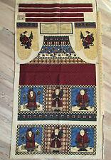 "Birdhouse Santa Debbie Mumm Christmas Fabric APRON Panel 29"""