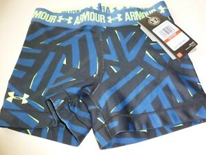 reputable site c58da e7501 Image is loading NWT-UNDER-ARMOUR-HEAT-GEAR-COMPRESSION-SHORTY-BLUE-