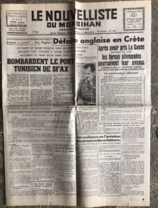N24-La-Une-Du-Journal-Le-Nouvelliste-Du-Morbihan-30-Mai-1941