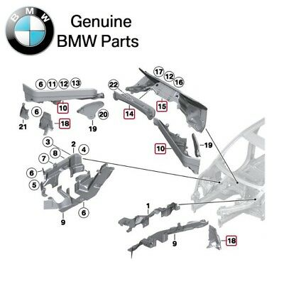 Genuine BMW X5 X6 Front Engine Bay Right Partition Bracket 51757171792
