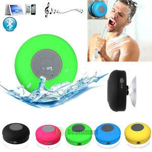 Wireless-Bluetooth-Handsfree-Waterproof-Mic-Suction-Mini-Speaker-Shower-Car