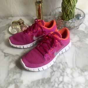on sale 54d34 ce70f Details about Nike Sneakers Shoes Free 5.0 Pink Sz 5.5 Youth AM207