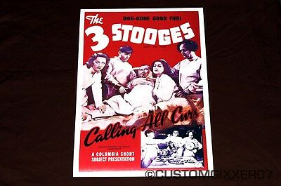 LOT OF 2 POSTERS:COMICAL CURLY FOR PRESIDENT 3 THREE STOOGES   #3477  RC15 G