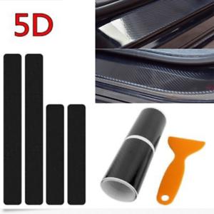 Protector Sill Scuff Cover Car Door Plate Sticker 5D Carbon Fiber For Honda