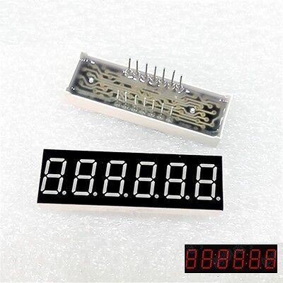 "2Pcs 0.36inch 7 Segment 6 Digit Common Cathode 0.36/"" RED LED digital Display NEW"