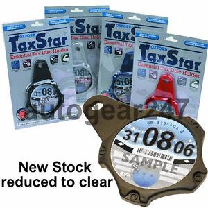 Oxford-IMPUESTOS-STAR-Motor-Bicicleta-Licencia-Plastico-Soporte-Negro-of735