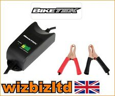 BIKETEK 12V Moped Scooter Battery Charger (PEUGEOT APRILIA PIAGGIO) BCH014