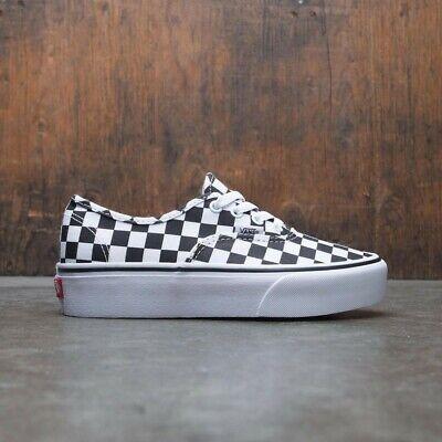 Women's Shoes Cheap Sale Vans Authentic Platform Checkerboard/true White Women's Skate Shoes Size 5 Athletic Shoes