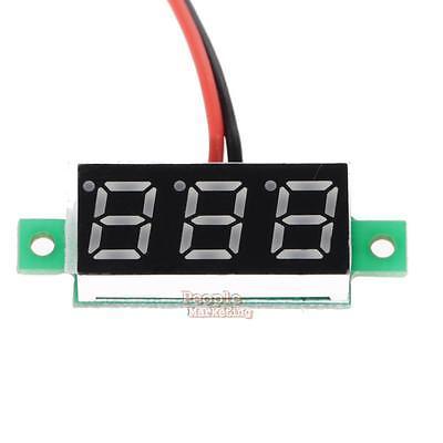 """2 Wire 0.28"""" LCD Disaplay Waterproof Digital DC Voltmeter Gauge Voltage Detector"""