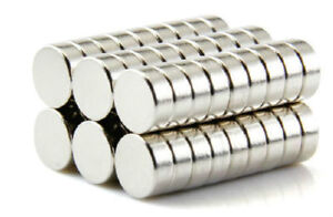 100pcs Super Strong Round Cylinder Disc 2 x10mm Rare Earth Neodymium N35 Magnets