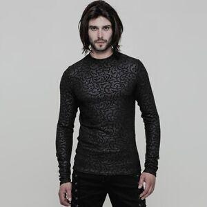 Gothic-Men-039-s-Printing-Cool-Personality-black-T-shirt-Rock-popular-Top-T-shirts