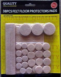 38 Feutre Protecteur de plancher Tampons pour planchers laminés etc GRATUIT UK P & p-afficher le titre d`origine W1zxks1z-07134355-343697365
