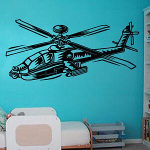 Autocollant Mural Hélicoptère Avion Aviation Art Chambre Enfants Pl15-afficher Le Titre D'origine Soulager Le Rhumatisme Et Le Froid