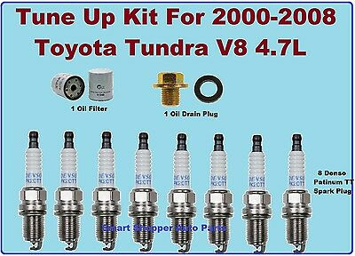 TUNE UP KITS 07-09 TOYOTA SEQUOIA TUNDRA SPARK PLUG BELT AIR CABIN /& OIL FILTER