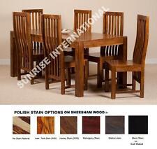 Wooden Dakota Range - Wood Dining table with 6 Chair set (7 pc set) !!