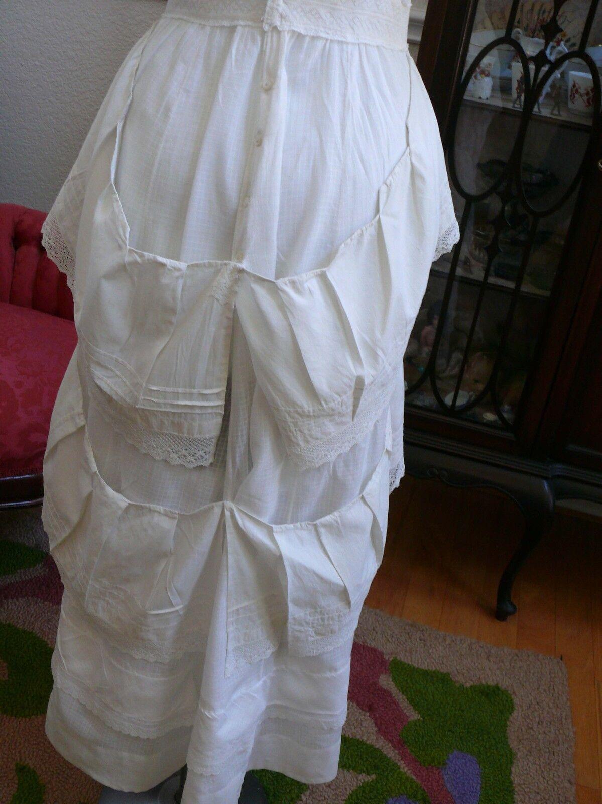 1910`s Edwardian White Dress Titanic Style Unusua… - image 8