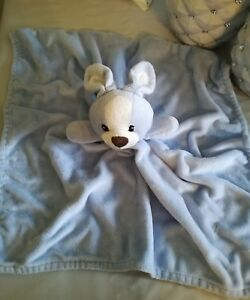 Grand-Doudou-plat-bleu-blanc-lapin-chien-PRIMARK-EARLY-DAYS