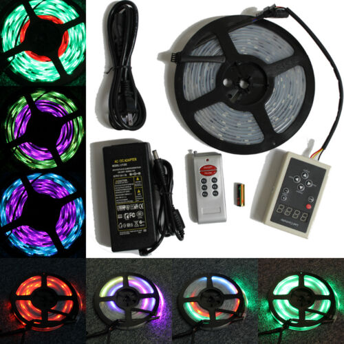 5M 16.4ft RGB 133 Dream color 5050 6803 IC Waterproof LED Strip Remote Power