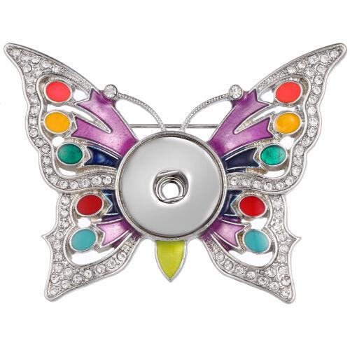 Hot Bijoux Broche fit 18 mm Noosa Snap Bouton Papillon N02