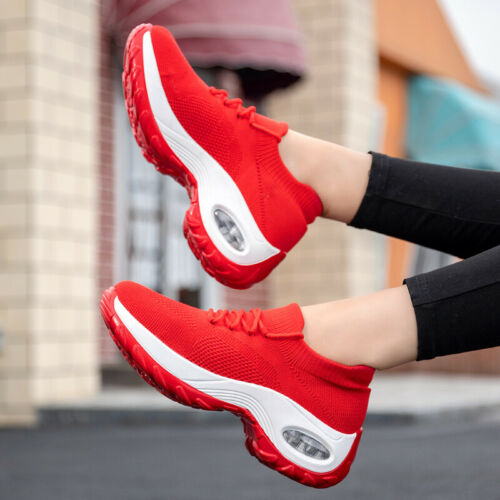 Shock-absorb Were-resistant Women/'s Air-cushion Athletic Sneakers Sport Shoes J5