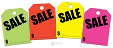 Sale Price Jumbo Hang Tags Multi Color 40 Pack Green Orange Pink Yellow