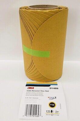 "3m 01489 8"" Stikit Gold Abrasive Disc Roll P180-grit 125-discs Domanda Che Supera L'Offerta"