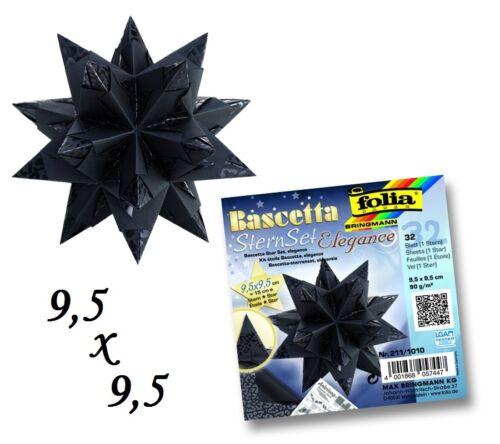 Faltblätter Bascetta Designpapier Faltstern 9,5x9,5 cm 3 Motive 15,34€//m²