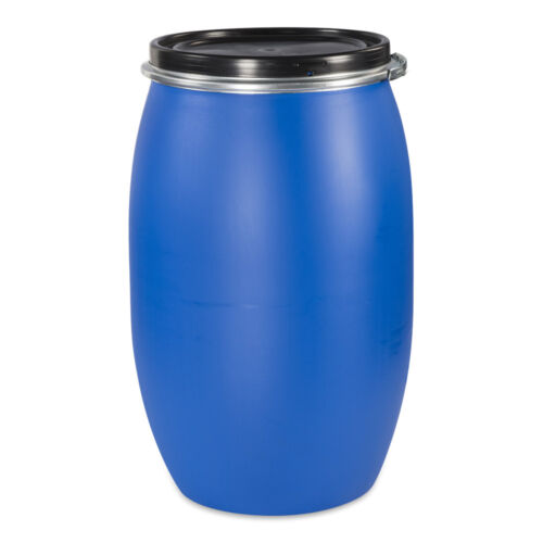 Weithalsfass 120l Maischefass Regentonne Futtertonne Regenfass blau