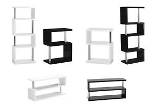 black or white furniture. Image Is Loading Charisma-034-S-034-Shape-Shelves-amp-TV- Black Or White Furniture