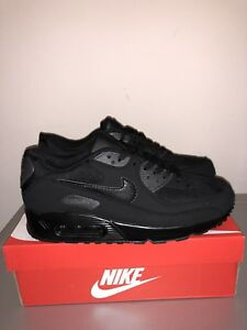 Image is loading Nike-Air-Max-90-all-black-Uk-size- 0dcf63d432